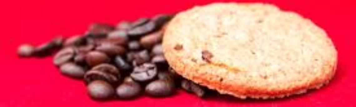Biscotti al caffè. Degli snack light senza burro